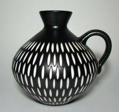 Studio Keramik  Vase Wilhelm  &  Elly  KUCH German Mid-Century Pottery 1960´s