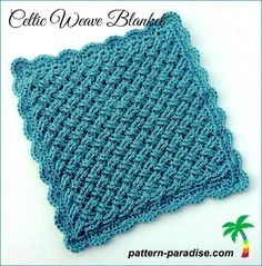 Celtic Weave Crochet Pattern for Blanket by Pattern Paradise  any size