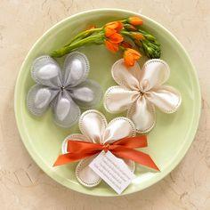 italian wedding flower traditions | Italian, Confetti Flowers, Bomboniera, Jordan Almond Flowers, Ribbon