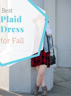Fall will be here before you know it and an adorable plaid dress is perfect for taking into the new season. On the blog I am sharing an adorable plaid babydoll dress you will won't wear again and again this season. #falldress #fallfashion #womensdress #petitestyle #casualdress Fall Fashion Petite, Cute Fashion, Autumn Fashion, Fashion Outfits, Fashion Tips, Petite Outfits, Petite Dresses, Dress For Petite Women, Thanksgiving Outfit