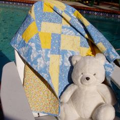 Children's quilt by ForCuteKids on Etsy, $75.00