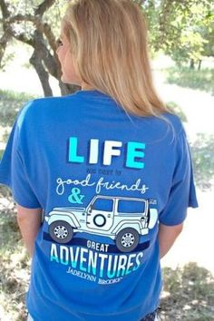 """Jadelynn Brooke """"Jeep Life"""" tee. - 100% pre-shrunk, pigment dyed, ringspun cotton - Brooke is 5'6"""" and is wearing a medium"""