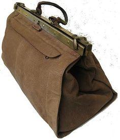 Große Vintage Leder Tasche Weekender Arzttasche Hebammenkoffer - Sommer Sale für 120,00 €