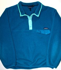 Vintage 90s Blue / Teal Patagonia Mens Fleece available at VintageMensGoods, $65.00