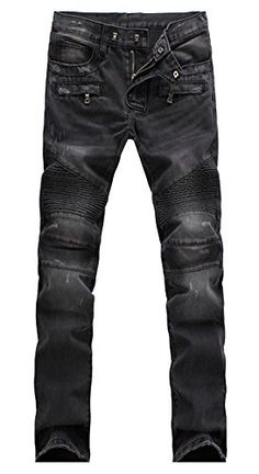 f90d4c8fb120 Myncoo Men s Biker Skinny Ripped Denim Jeans Black 28 Myncoo https   www.