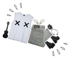 """""""X's on the back of my hands"""" by corruptedcolours ❤ liked on Polyvore featuring GUSTA, Diesel, T.U.K., Waterman and Old Navy"""