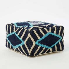 Diamond Stripe Pouf | west elm
