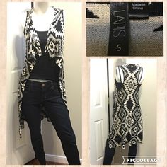 ☀️Lapis Aztec Tank Cardigan Measurements are in photos. Normal wash wear, no flaws. A2 Jeans are American Eagle Jeggings, Black tank is White House Black Market- Both also for sale!   Ask about a bundle discount on all items that are not ⏰Flash Sale items! I ship everyday. I always package safely. If I run out of boxes, I will use priority bags over a polymailer bag. If you prefer to only receive this great item in a box, please let me know! Thanks! Lapis Sweaters Cardigans