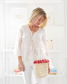 Heading out for the afternoon with NO jacket, this cute boho blouse and the cutest tassel bag I've ever seen because IT'S 65 AND SUNNY ☀️ Praise the Lord hallelujah  http://liketk.it/2qvwn @liketoknow.it #ootd #liketkit  #Regram via @purejoyhome