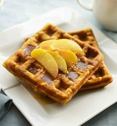 Dairy and Gluten Free. Indulge in these warm, easy-to-make Cinnamon Pumpkin Waffles for a delicious Thanksgiving breakfast. | Tesco