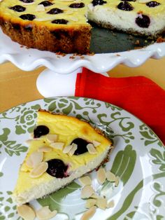 cherry ricotta tart..very easy and tasty!