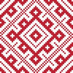 Vector illustration of slavic seamless pattern ornament - stock vector Inkle Weaving, Card Weaving, Tablet Weaving, Cross Stitch Bird, Cross Stitch Designs, Cross Stitch Patterns, Tapestry Crochet Patterns, Weaving Patterns, Folk Embroidery