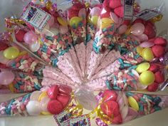 Troll theme candy cones by Sweet Memories #troll #sweets #candycones #sweetmemories #sweetcones