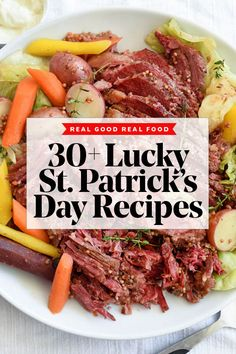 Traditional Irish recipes are the perfect excuse to gather friends for a St. Patrick's Day potluck, brunch, or boozy stout recipes to celebate all day long. Potluck Recipes, Real Food Recipes, Appetizer Recipes, Dinner Recipes, Cooking Recipes, Healthy Recipes, Irish Food Recipes, Dinner Ideas, Appetizers
