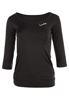 WINSHAPE Damen Super Leichtes Functional 3/4-arm Shirt Aet107, Slim Style Fitness Yoga Pilates ¾-arm - Lerne Pilates Style Fitness, Sport Fitness, Yoga Pilates, Sweatshirts, Blouse, Long Sleeve, Sleeves, Sweaters, Mens Tops