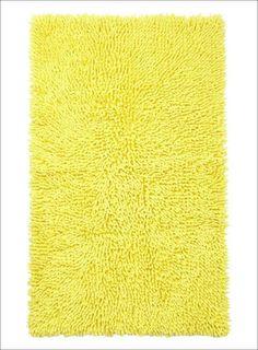 bright yellow bathroom rugs #BathroomRugs Yellow Bathroom Rugs, Bathroom Rugs And Mats, Bath Rugs, Neutral Bathroom, Yellow Baths, Rug Texture, Look Fashion, Colorful Rugs, Bright Yellow