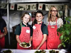 Gorgeous young students, part of the Stephanie Alexander Kitchen Garden program, at the Noosa International Food & Wine Festival