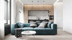 Apartamentul Minimalist - check out this beautiful apartment created by Huge Studio  on nazzainteriordesign.com  #apartmentdesign #livingroom #kitchen #minimalistdesign #interiordesign #passionforinteriors #amazingspaces #bright