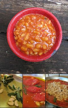 Fagioli alluccelleto, beans cooked bird-style