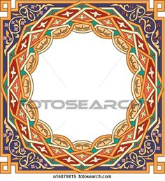 Gold frame with copy space View Large Clip Art Graphic