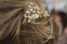 Clip on earing as hair adornment