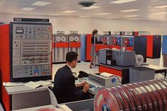 """The commotion kicked up by the new super computer at """"Mad Men"""" advertising agency SC&P is nothing compared to the havoc it wreaked at IBM 50 years ago. Electronics Projects, Data Processing, Old Computers, New Star, Corporate Design, Problem Solving, Engine, Cool Designs, Tumblr"""