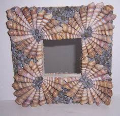 Items similar to Shelled mirrors, Turritella (spiral) shell mirrors, Choose from three designs. Shelled home decor items. on Etsy - ariane Seashell Painting, Seashell Art, Seashell Crafts, Beach Crafts, Diy And Crafts, Seashell Frame, Do It Yourself Quotes, Do It Yourself Home, Shells And Sand