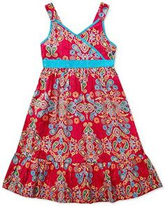 Bloome Girls' Printed Blue Trim Dress (8) Bloome http://www.amazon.com/dp/B01CPYDVUY/ref=cm_sw_r_pi_dp_24aaxb122D2JE