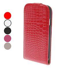 Flip-Open Design Noble Alligator Grain Leather Case for Samsung Galaxy S4 I9500 (Assorted Colors) - USD $ 6.99