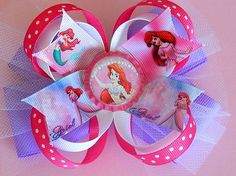 Hey, I found this really awesome Etsy listing at https://www.etsy.com/listing/150556381/ariel-hair-bow-little-mermaid-bow-disney