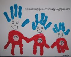 Make a precious keepsake wall art while celebrating Dr. Seuss' birthday with this Thing 1, 2, 3, Hand Art! Step-by-step...