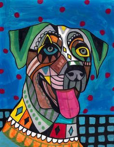PRINT Catahoula Leopard Dog Pop Poster Painting Art
