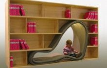 Literary Literalism: Bold Bookcase Shaped Like Book Pages | Designs & Ideas on Dornob