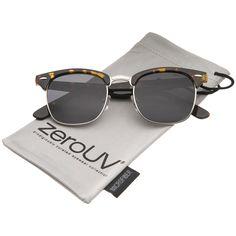 133f750c5bb Polarized Lens Classic Half Frame Horn Rimmed Sunglasses 50mm