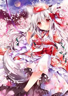 Kawaii Gallery of Anime pictures. Anime Neko, Kawaii Anime Girl, Manga Anime, Anime Girls, Anime Kimono, Anime Angel, Anime Devil, Anime Flower, Art Manga