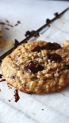 These Peanut Butter Oatmeal Chocolate Chip Cookies are super chewy. Just 11 ingredients and 10 minutes active preparation time. 2 cups oats, 2 cups chocolate chips, and 1 cup peanut butter! Oatmeal Chocolate Chip Cookie Recipe, Peanut Butter Oatmeal, Chocolate Chips, Peanutbutter Chocolate Chip Cookies, Peanut Butter Chips, White Chocolate, Oat Cookies, Cookies Et Biscuits, Brownie Cookies