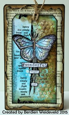 Scrap from Bemmel: # Wonderful using Tim Holtz, Ranger, Sizzix and Stamper's Anonymous products; Atc Cards, Card Tags, Gift Tags, Mixed Media Cards, Art Journal Pages, Art Journals, Junk Journal, Handmade Tags, Marianne Design