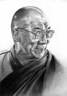 Tenzin Gyatso, The 14th Dalai Lama by FrankGo.deviantart.com on @deviantART