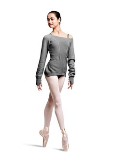 Bloch Ladies Long Sleeve Open Knit Sweater