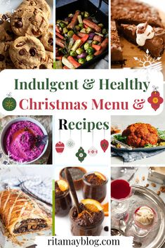Indulgent & Healthy Christmas Menu & Recipes that your whole family and friends will also enjoy. You don't have to choose between and indulgent Christmas and a healthy lifestyle. You can have them both with this menu. Easy Christmas Dinner, Vegan Christmas, Vegan Jelly, Low Calorie Vegetables, Healthy Eating Habits, Healthy Menu, Side Dish Recipes, Holiday Recipes, Smoothie