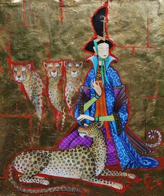 Монгольский художник. Zayasaikhan Sambuu