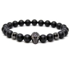 The black matte natural stone beads gives to who wear this bracelet a boost of self-esteem. Spiderman Man, Stone Beads, Bracelets For Men, Natural Stones, Inspired, Luxury, Fit, Inspiration, Jewelry