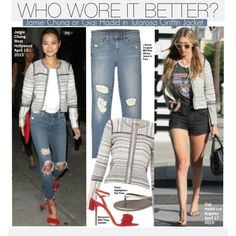 Who Wore It Better?Jamie Chung or Gigi Hadid in Tularosa Griffin Jacket