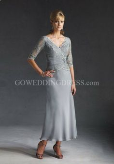 mother of the bride dresses | ... Iridescent Chiffon/ Lace Beading Mother of the Bride Dress Style 29690