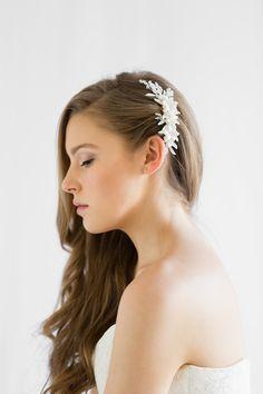 LUNA | Floral Wedding Hair Comb | TANIA MARAS | Bridal Headpieces, Wedding Veils and Bridal Hair Accessories
