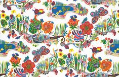 """Butterfly"" textile by Josef Frank on Linen"