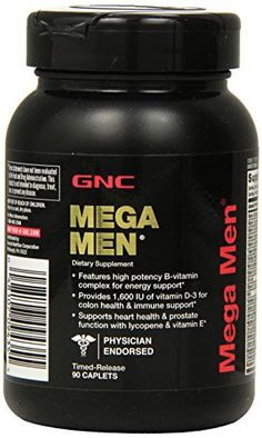 GNC Mega Men Supplement 90 Count *** Details can be found by clicking on the image.  This link participates in Amazon Service LLC Associates Program, a program designed to let participant earn advertising fees by advertising and linking to Amazon.com.