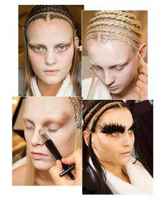 Backstage beauty: Alexander McQueen Fall/Winter 2014-2015, FW2014, Sarah Burton, Pat McGrath, Guido Palau, hair, make-up