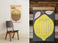 A simple, yet vibrant image serves as the background for the calendar grid.