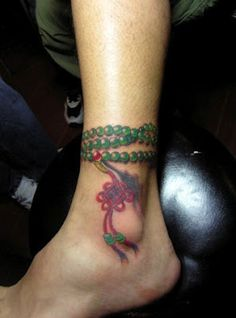 praying beading #anklet #tattoo